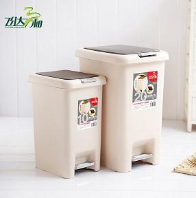G2630 / G1830 / G1840 双盖垃圾桶(6.5L/10L/15L)